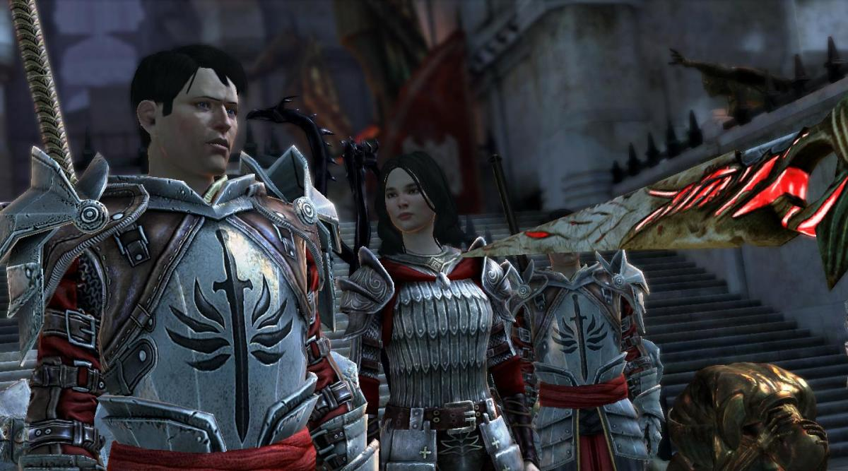 Carver protects Hawke.