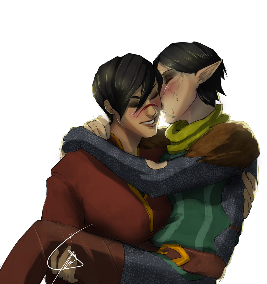 Merrill and Marian Hawke fan art.