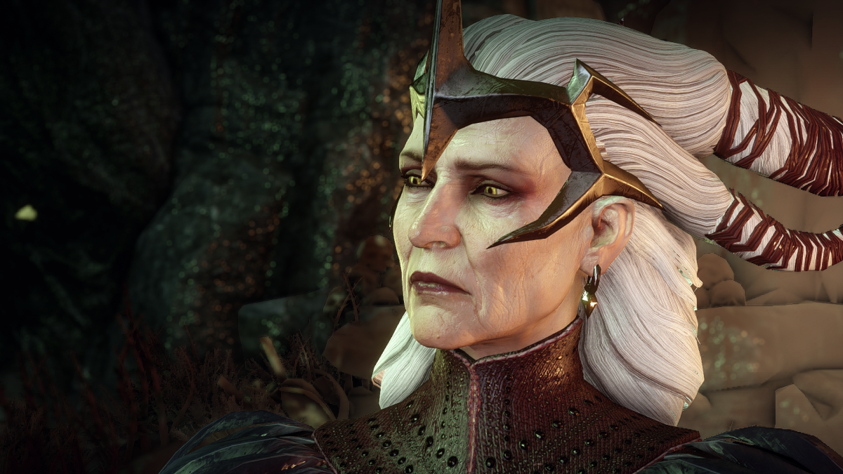 "Flemeth in the Fade in ""Inquisition."""
