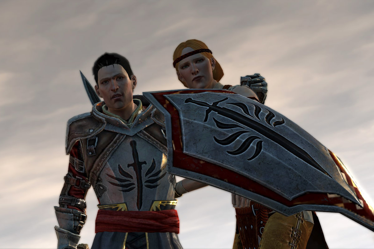 "Aveline's first appearance in ""Dragon Age 2."""