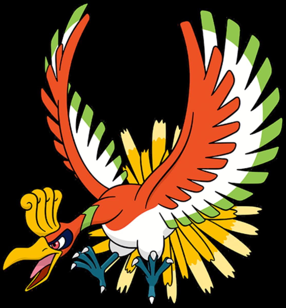 """Ho-Oh, the """"Rainbow"""" Pokémon"""