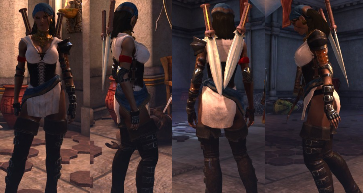 Isabela with breasts and butt hanging out for all to see.