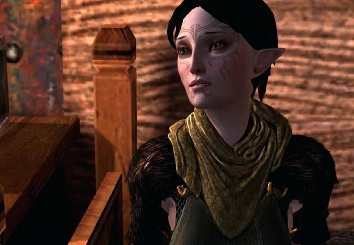 "Merrill as she appeared in ""Dragon Age 2."""