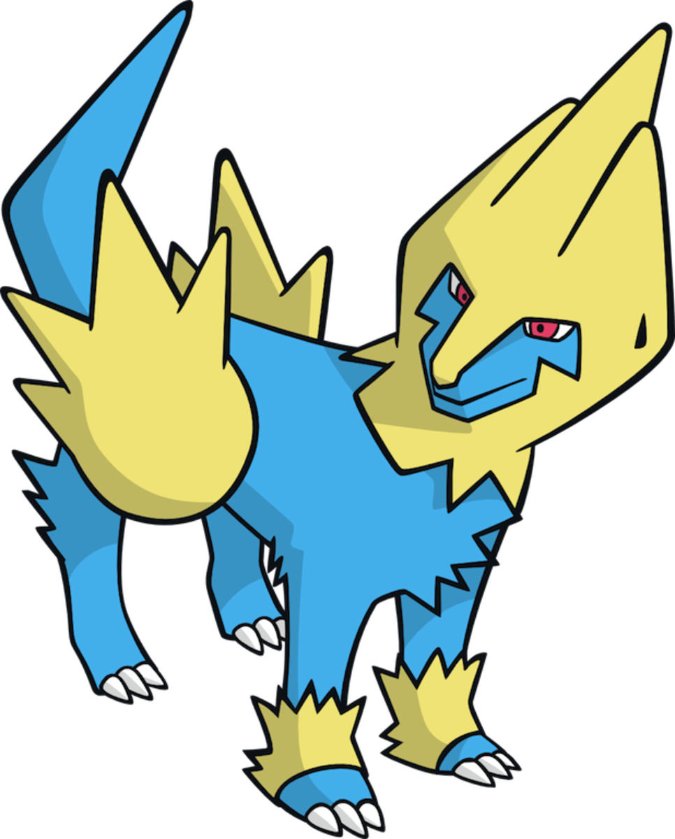"Manectric, the ""Discharge"" Pokémon"