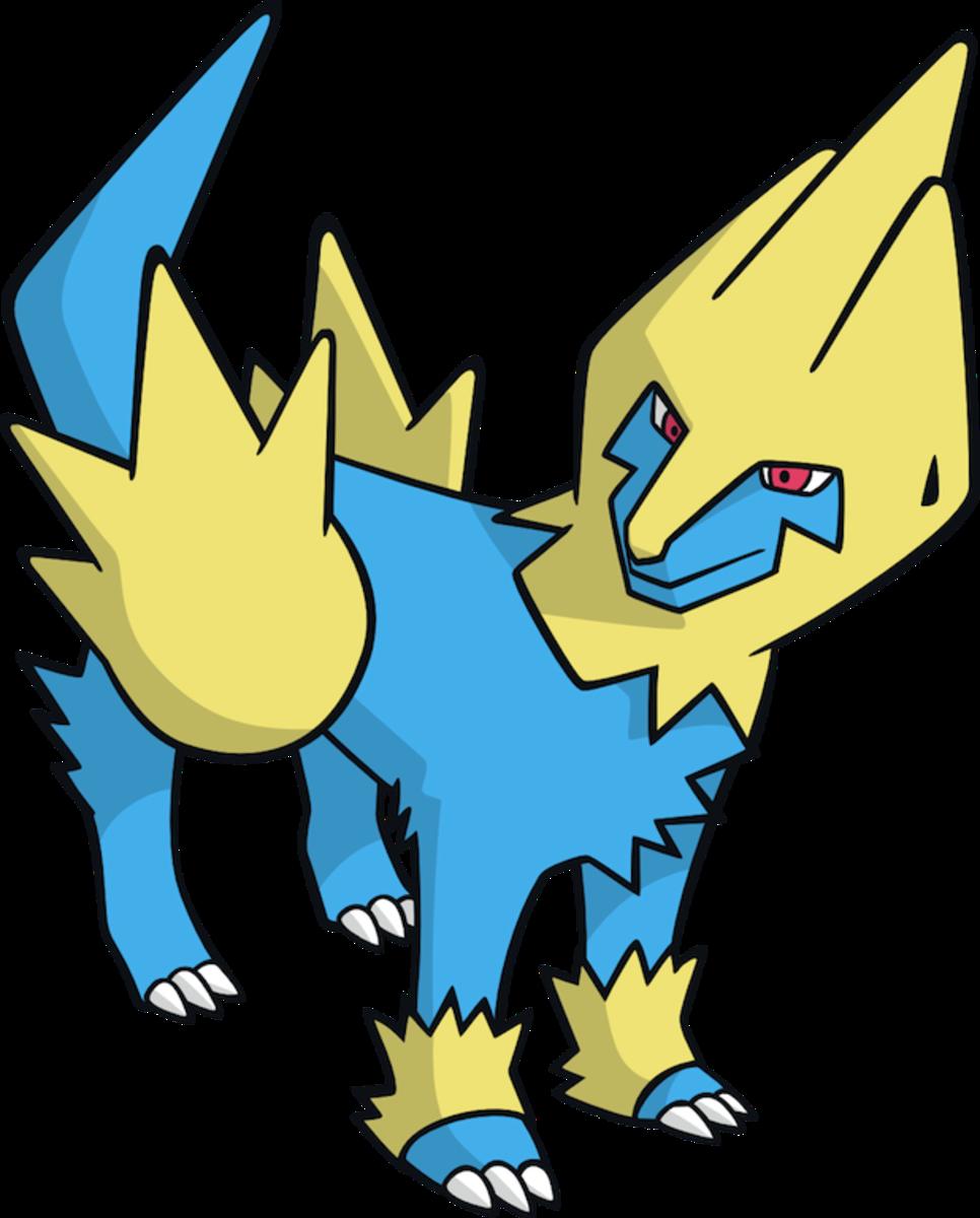 "Manectric, the ""Discharge"" Pokémon"