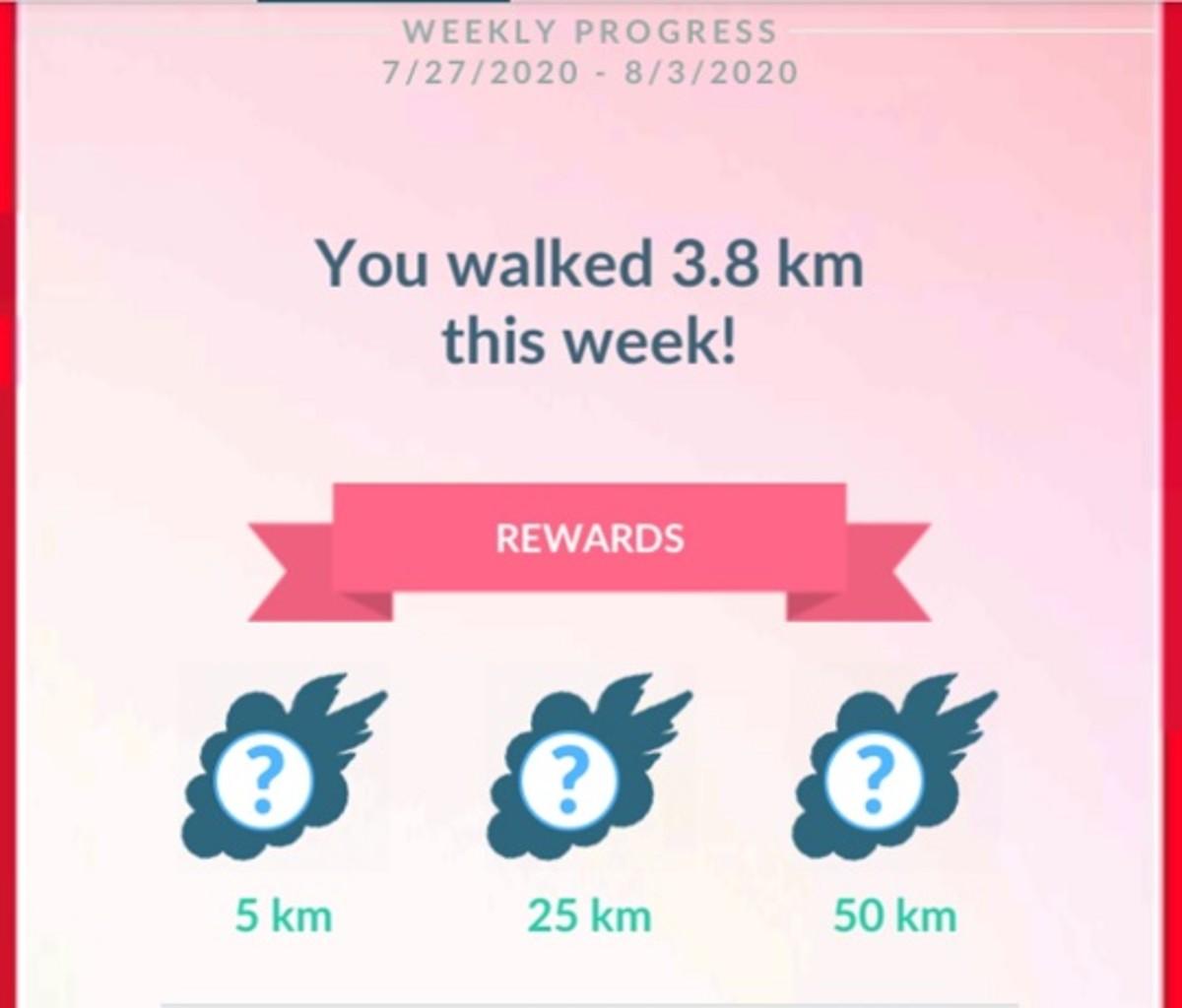 The 100km reward is a hidden tier.