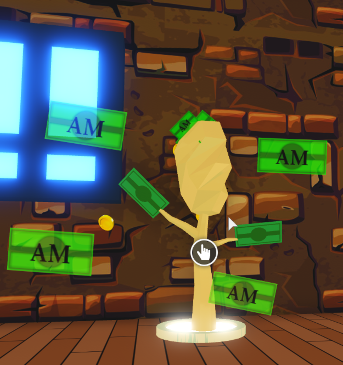 A Money Tree in Adopt Me. Gives you money when you use it.