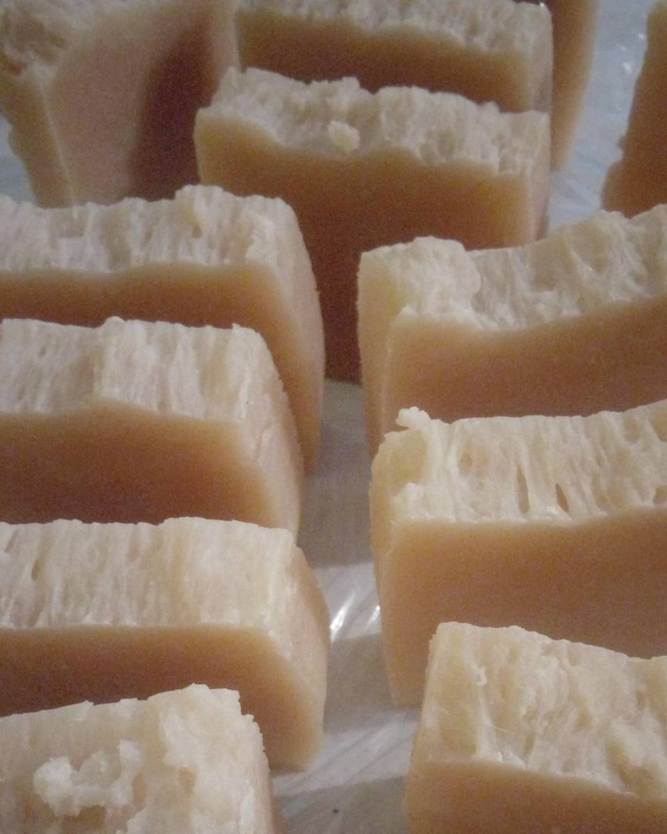 Bars of Castile soap.
