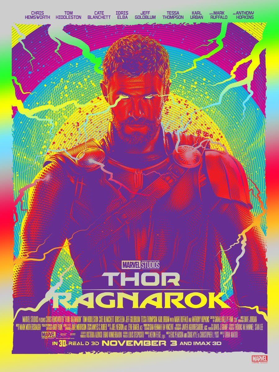 "One of many theatrical posters for ""Thor: Ragnarok."""