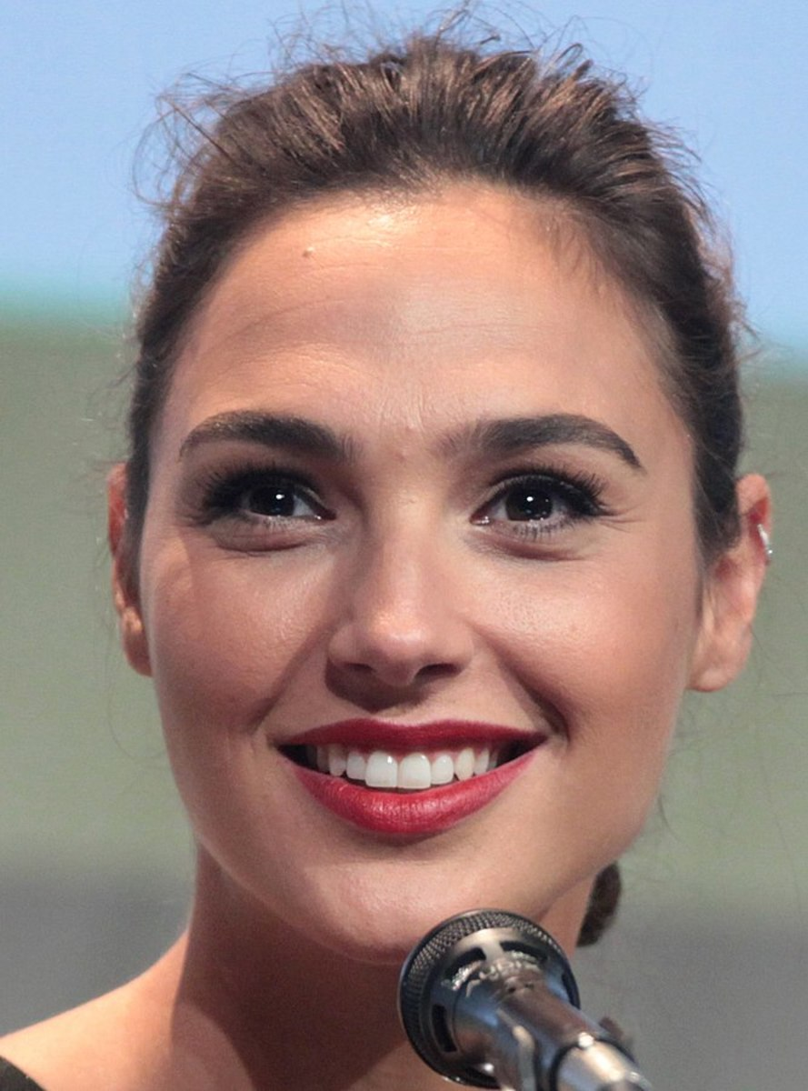 Gal Gadot, star of current film, Wonder Woman.
