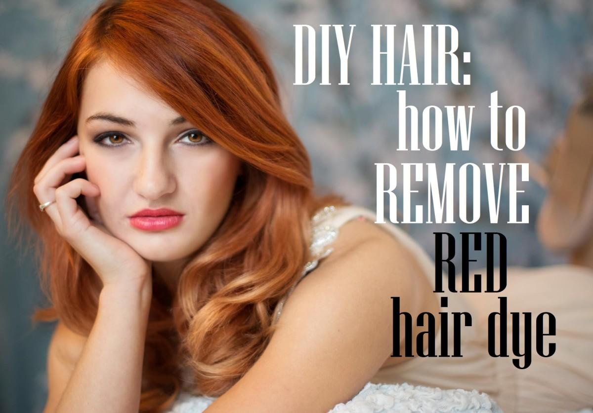 Diy Hair How To Remove Red Hair Dye Bellatory