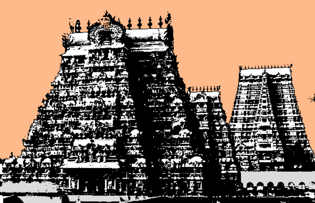 The magnificent temples of Trichinopoly