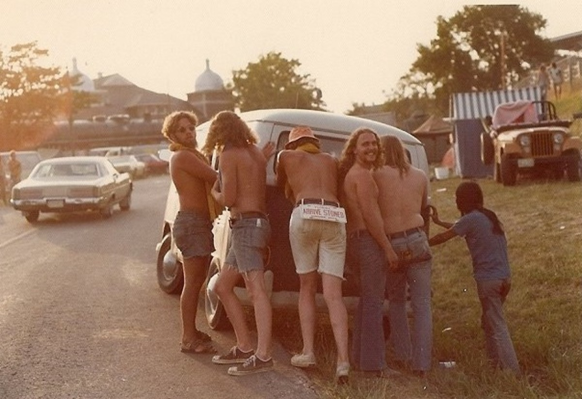 Ozark Music Festival in Sedalia, Missouri, 1974.