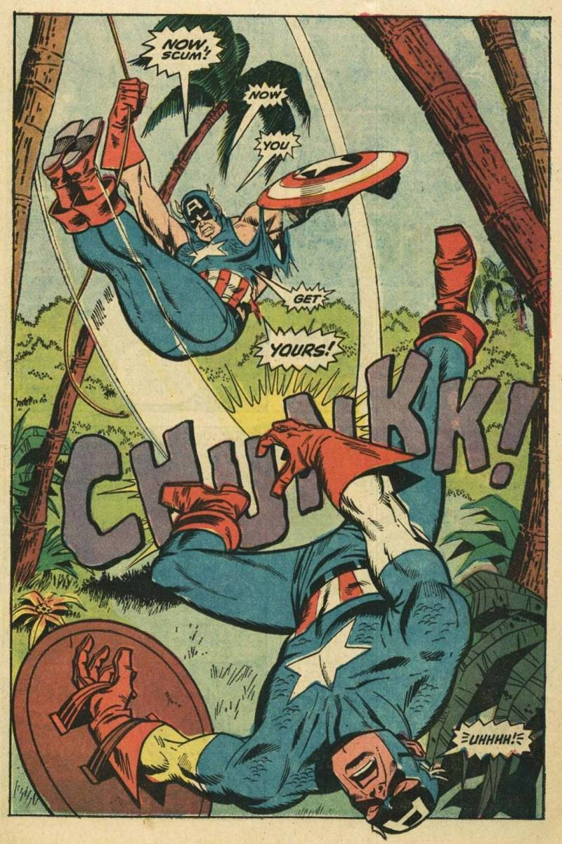 The Supersoldier formula drove Captain America IV (William Burnside - aka the Commie Bashing Cap) quite insane.