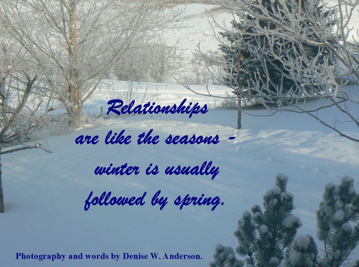 When we realize that our relationships go through seasons, we have hope for the future.