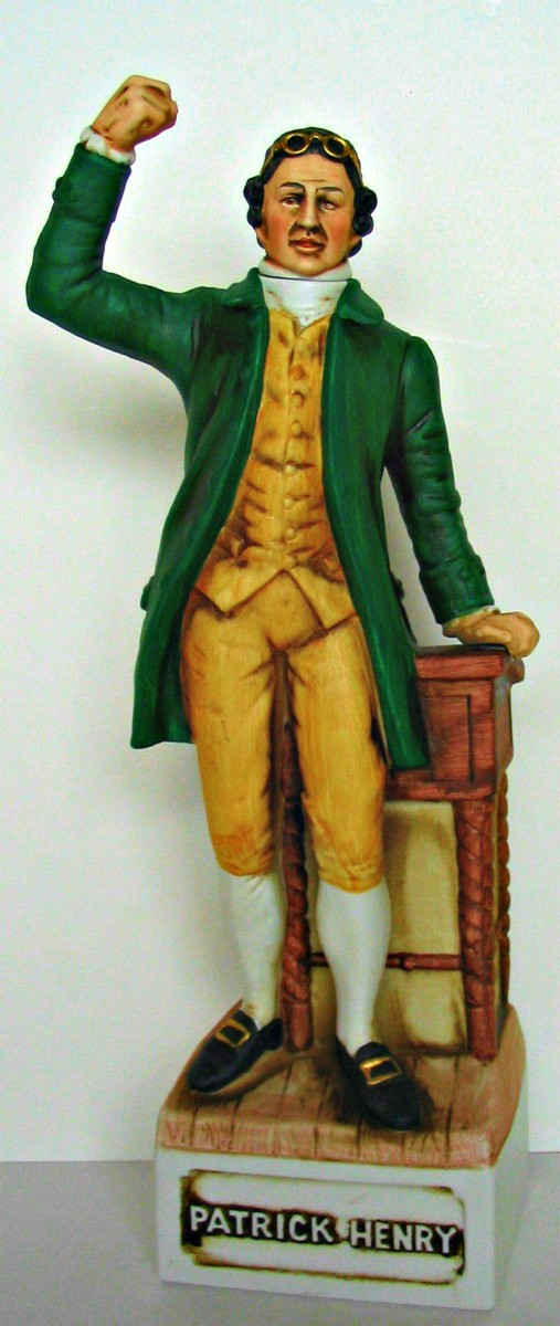 The Bicentennial McCormick decanter of Patrick Henry (1736-1799) is very well made. Decanter produced in 1975 for the 1976 Bicentennial and is part of the Patriots Series.