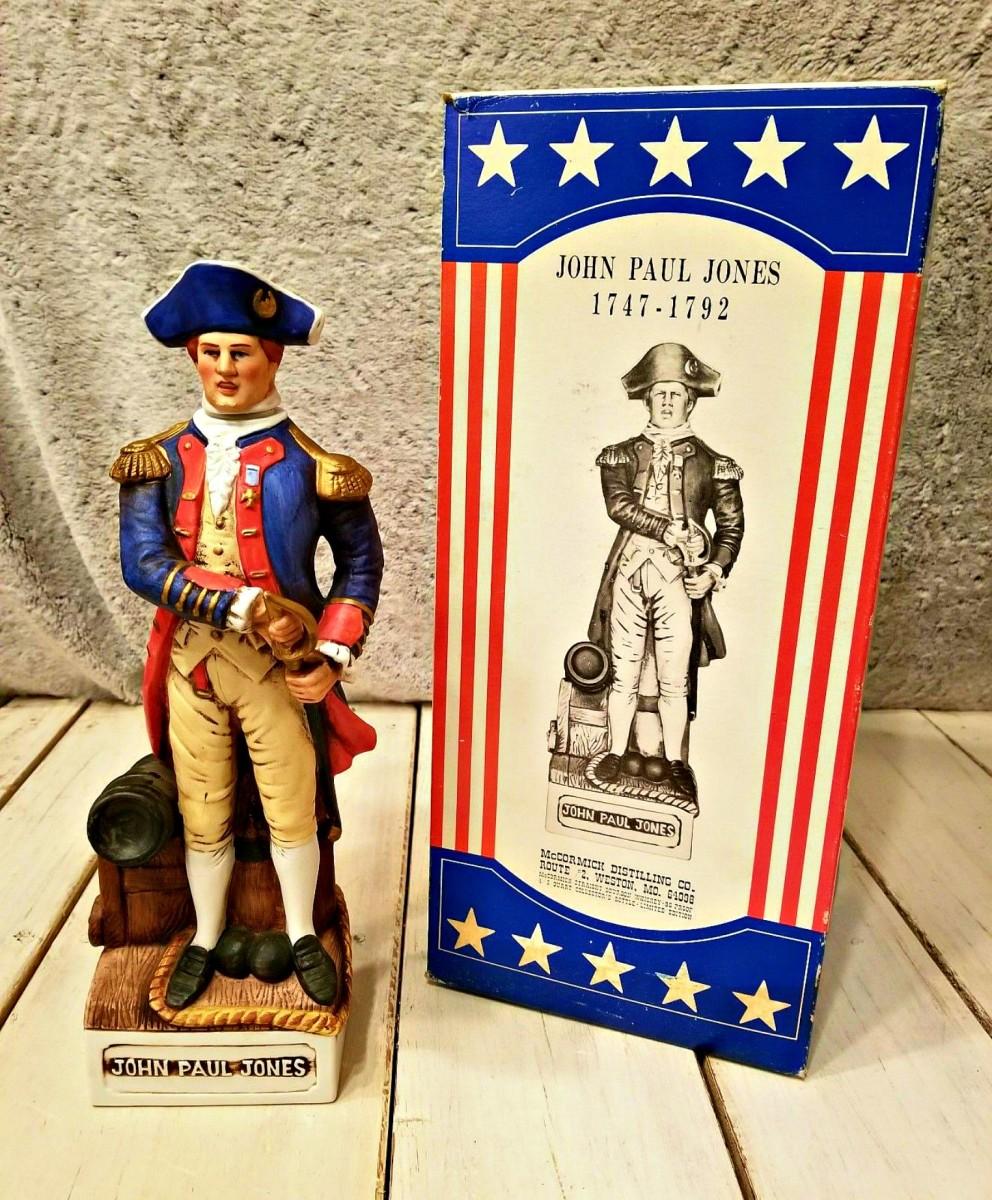 McCormick American Porcelain John Paul Jones Patriots Decanter Figurine  ... Wonderful McCormick Decanter of John Paul Jones - The Patriots.