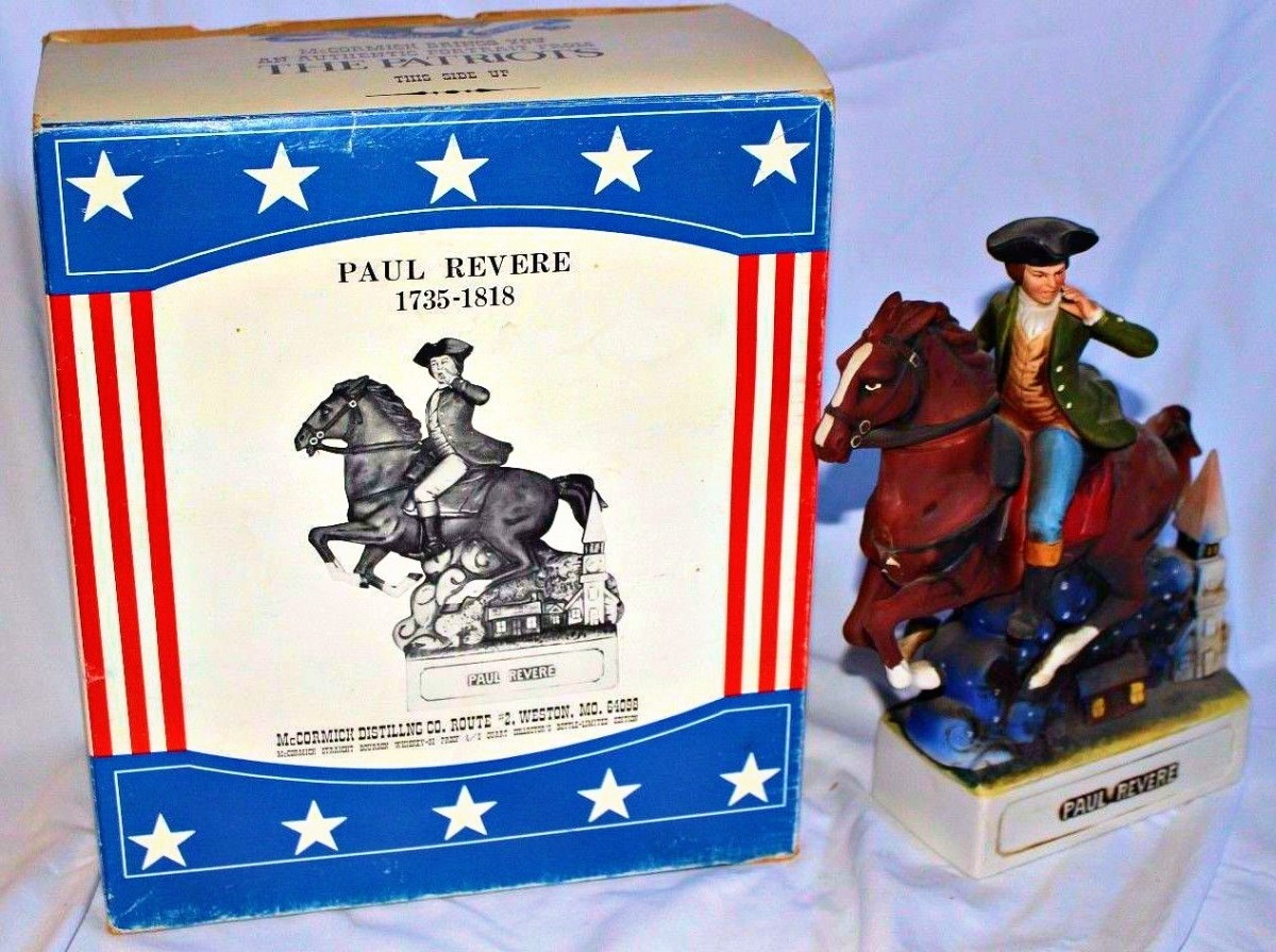 Here is the very well made and hand painted McCormick Americana Porcelain Paul Revere The Patriots Decanter Figurine