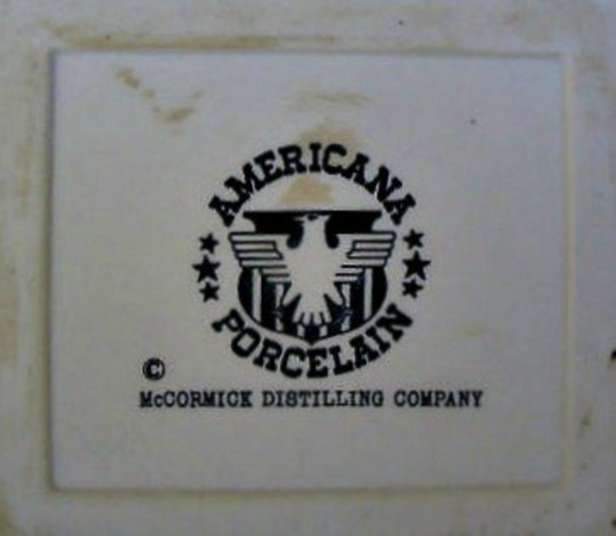 The American Porcelain Company made all the beautiful decanters for the McCormick Distilling Company, they had a wonderful workforce in Japan that did exquisite work.