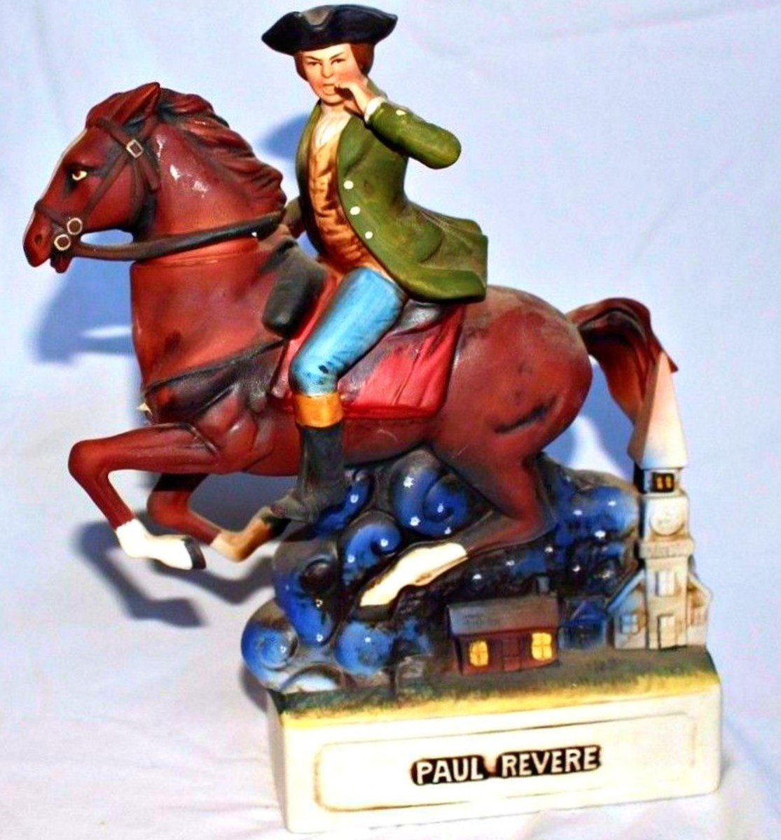 Because Paul Revere was immortalized after his death for very brave and patriotic role as a messenger that the British are coming to the American minutemen in the battles of Lexington and Concord, he has become a simple of the spirit of 1776 â¦