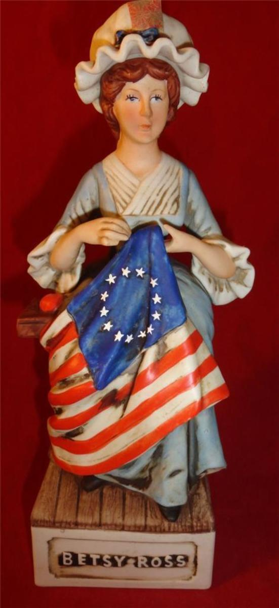 George Washington, pencil in hand, sketched the new flag as Betsy Ross described it. Thus the stars and stripes ere born!
