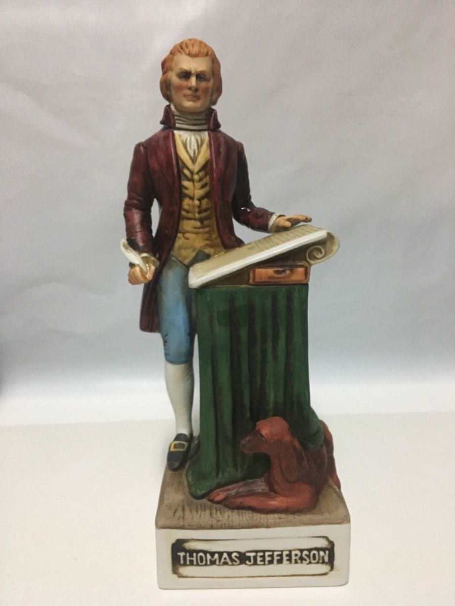Made for the Bicentennial year 1976, Thomas Jefferson, McCormick Porcelain Whiskey Decanter
