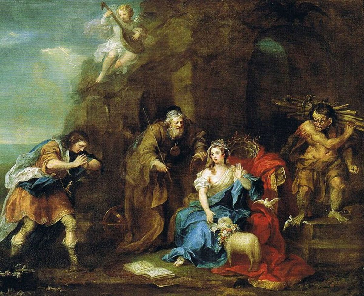 A Scene from Act I, Scene 2 (Ferdinand courting Miranda)