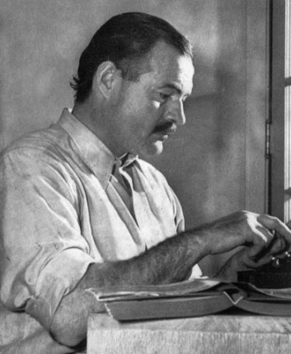 Only one writer takes my breath way, and that's Ernest Hemmingway.