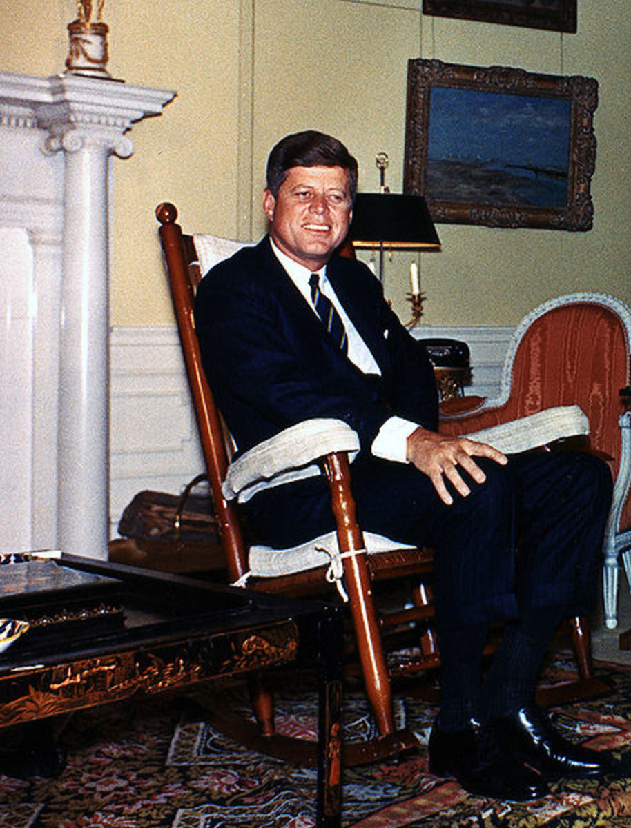 JFK in Yellow Oval Room in White House.