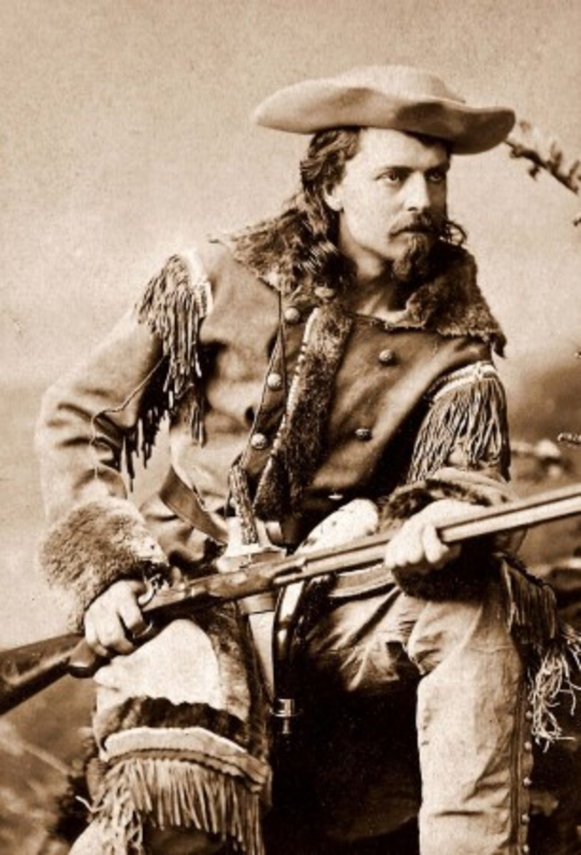 "William Buffalo Bill Cody,1880 - One of his nicknames was ""Nature's Nobleman."""