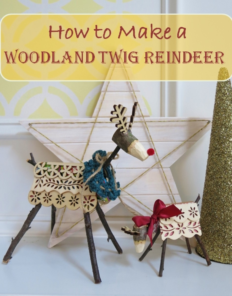 Twig reindeer make for a lively addition to your holiday display. Here's how to make your own!