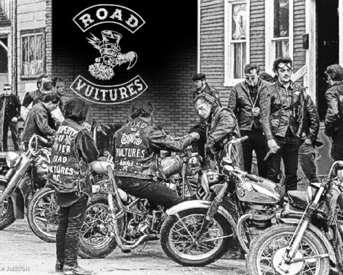 Hells Angels Buffalo, Road Vultures. These guys ARE NOT to be confused with The Masters of Meanness in my hub.