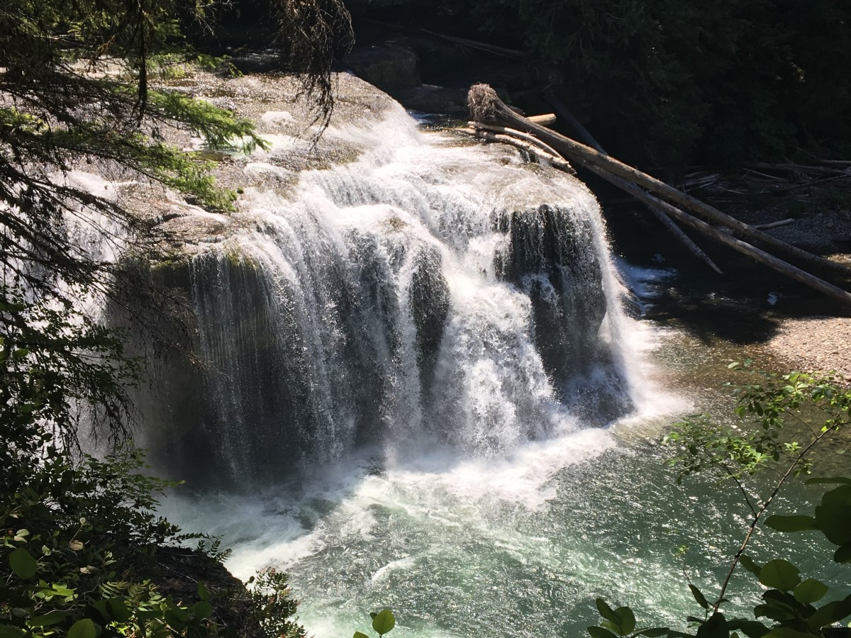 Lower Lewis River Falls is a breathtaking sight and just a very short walk from the trail's parking lot.
