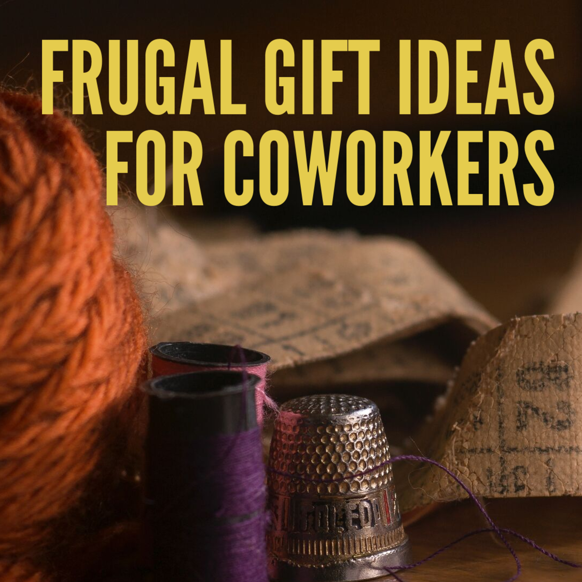 Ideas for gifts for co-workers that are thrifty and won't break the bank.