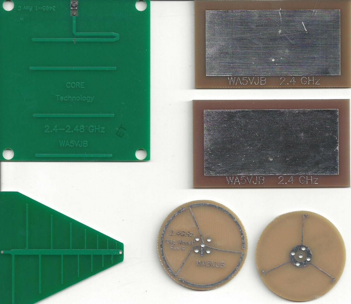 A diverse array of 2.4 GHz antennas