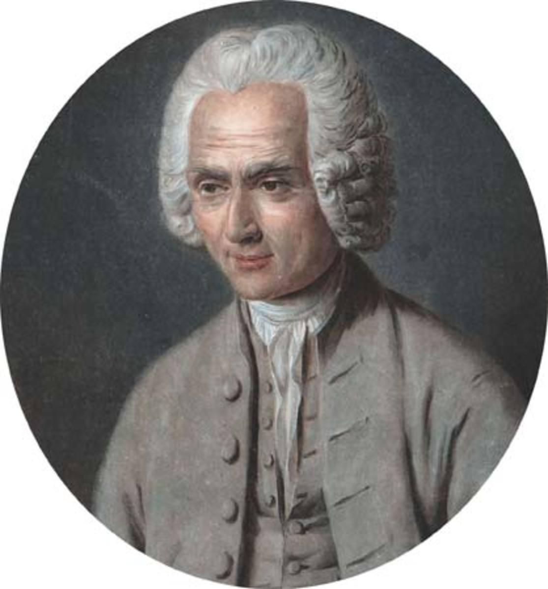 Famous portrait of Jean Jacques Rousseau.