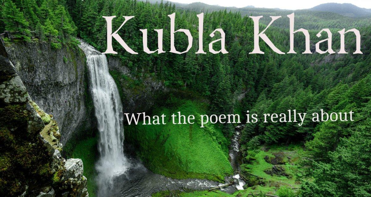 kubla khan poem river