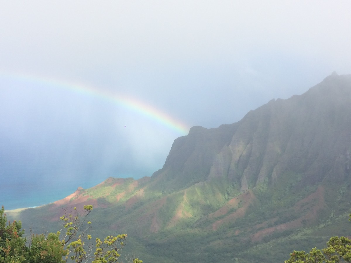 Rainbow over Waimea Canyon