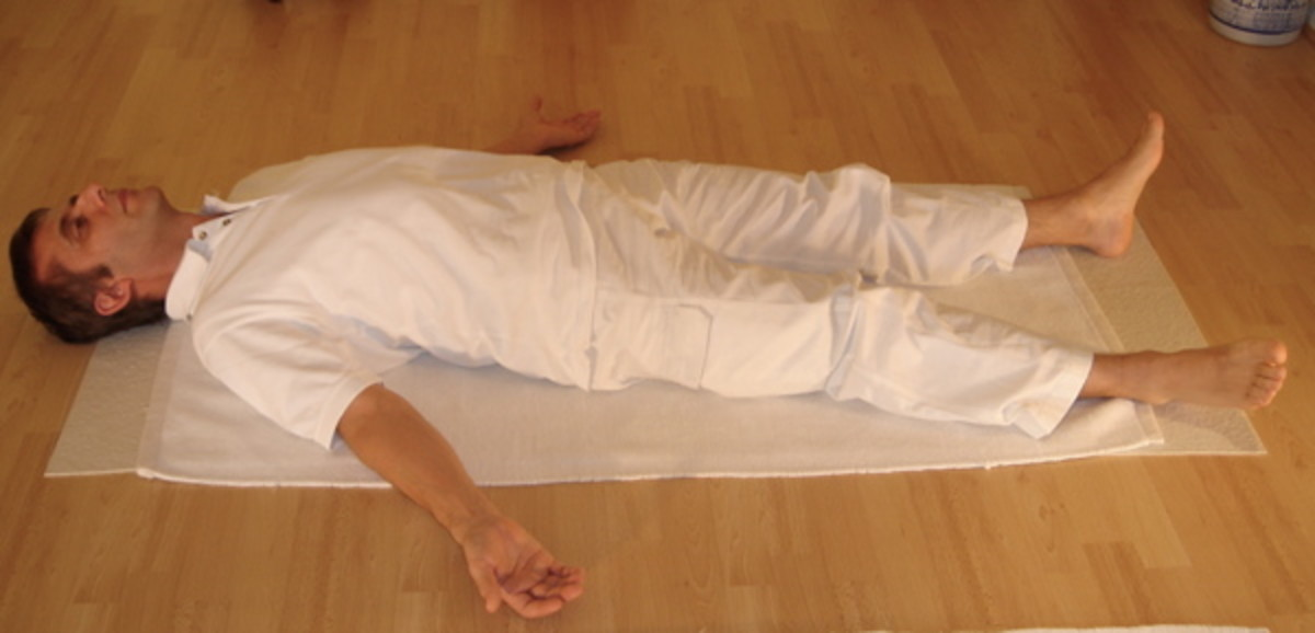 Deep breathing can be done lying down