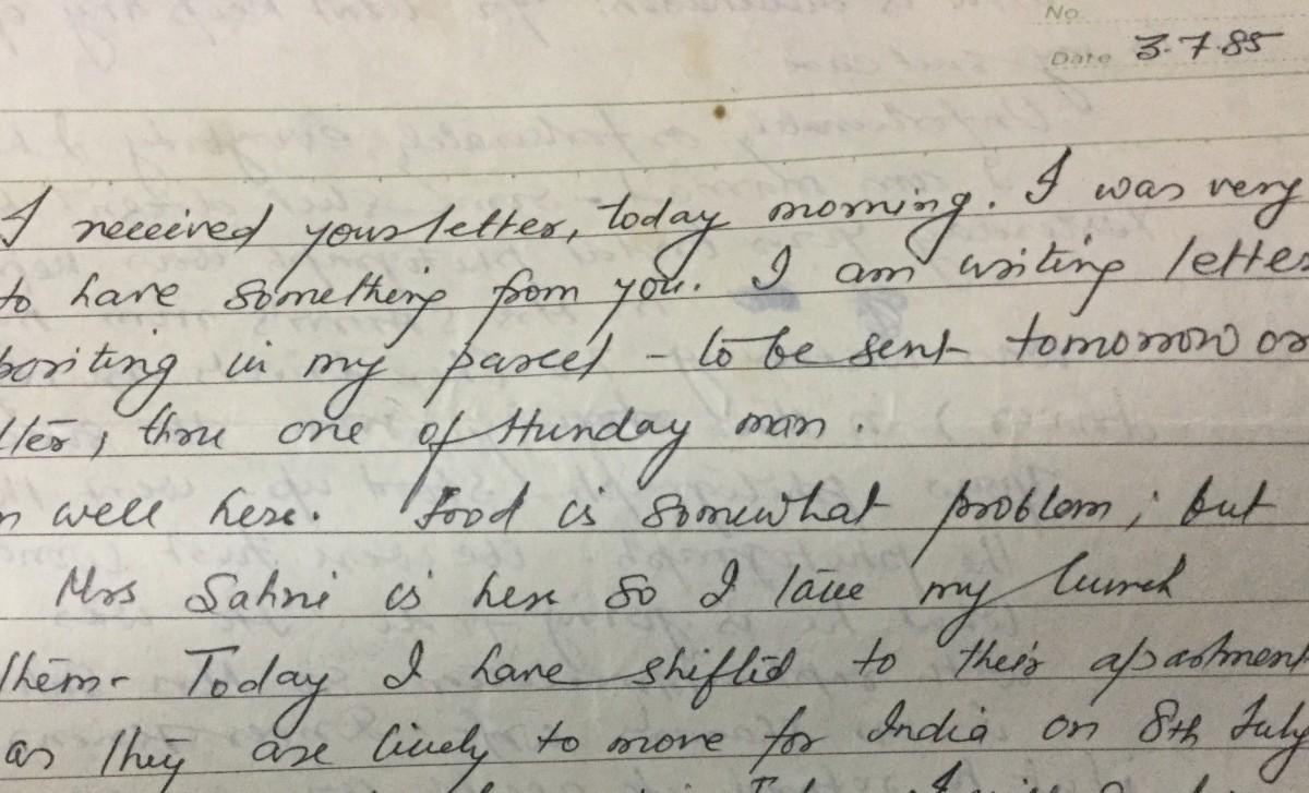 The handwritten letters