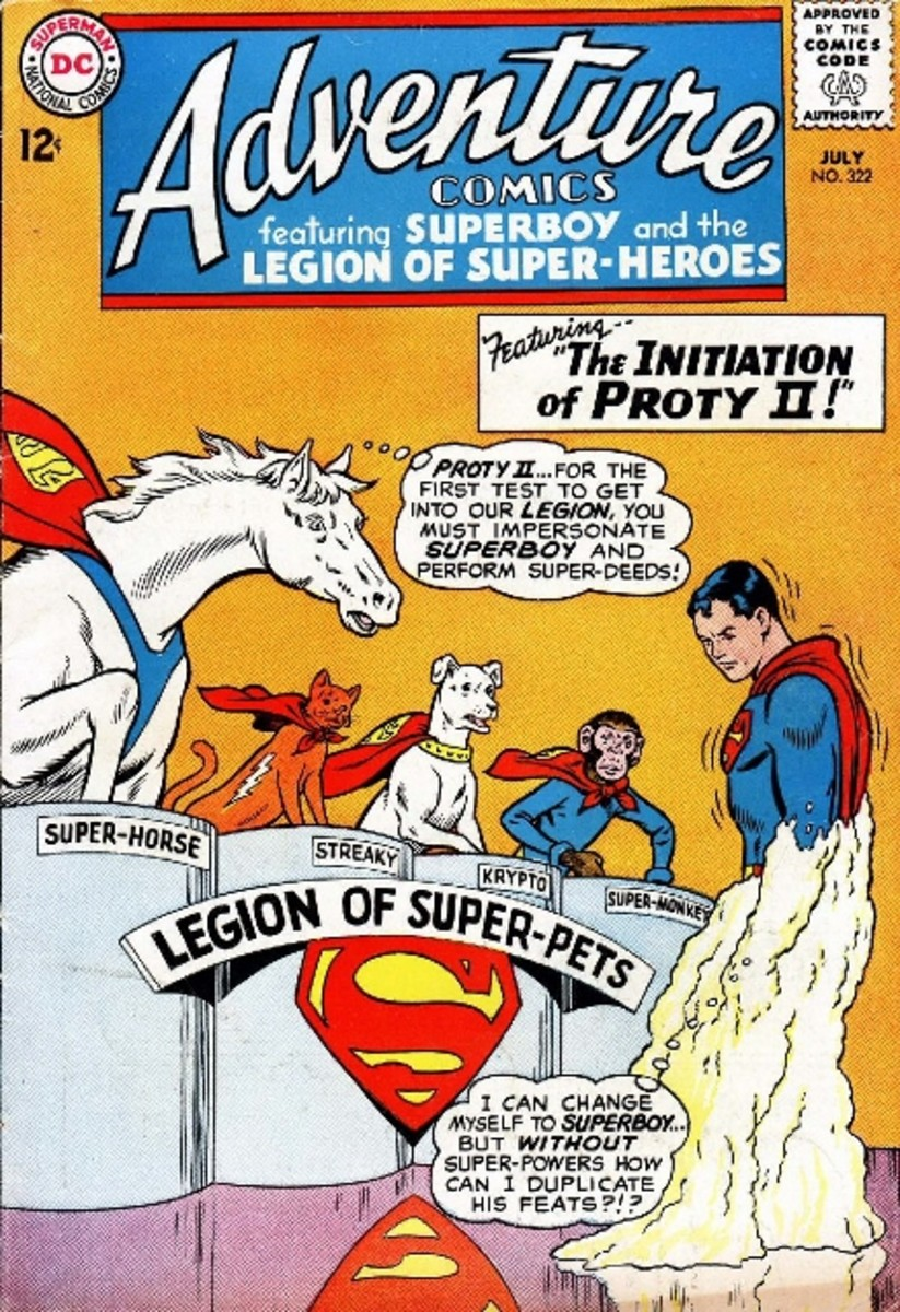 """Proty auditions for the Legion of Super-pets""—a sentence I never thought I'd ever type."