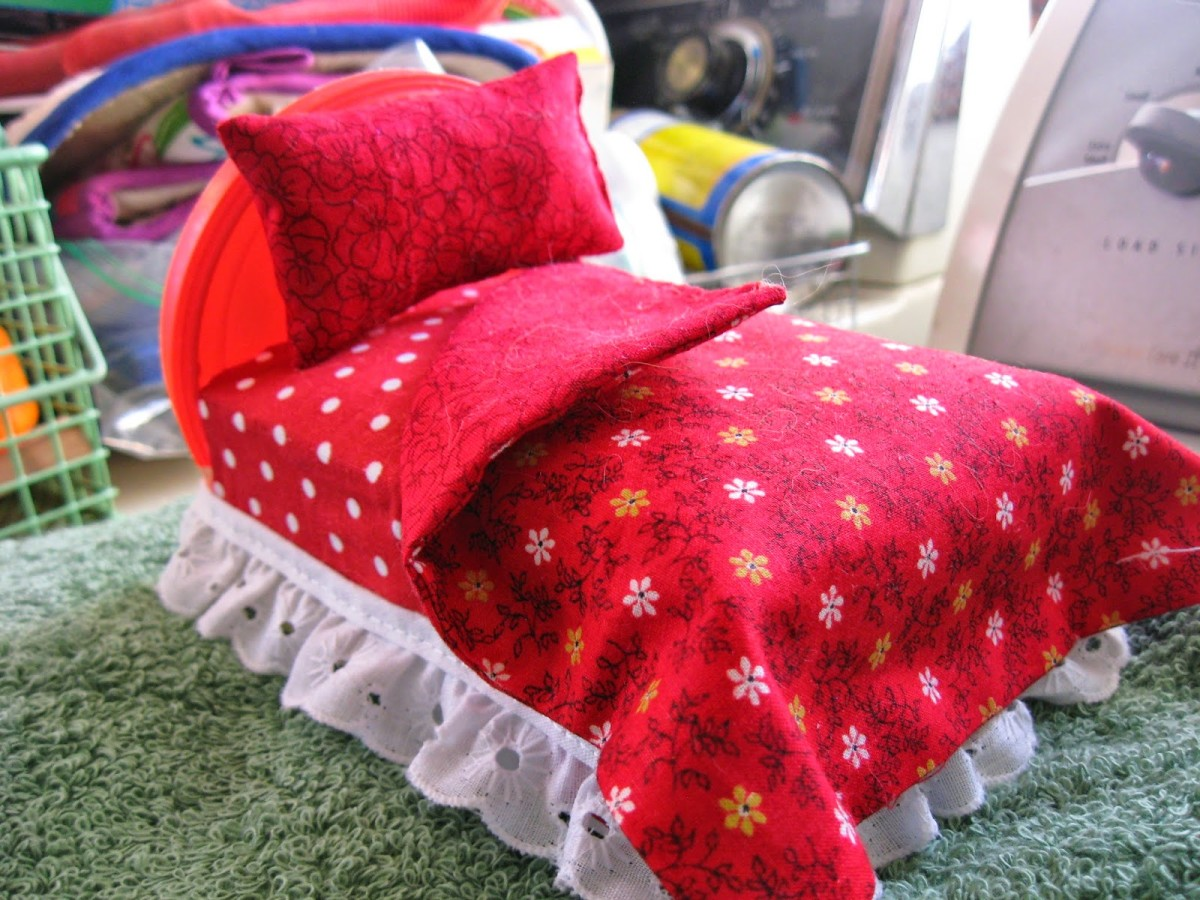A miniature doll bed would make a thoughtful, handmade gift for a special doll lover in your life.