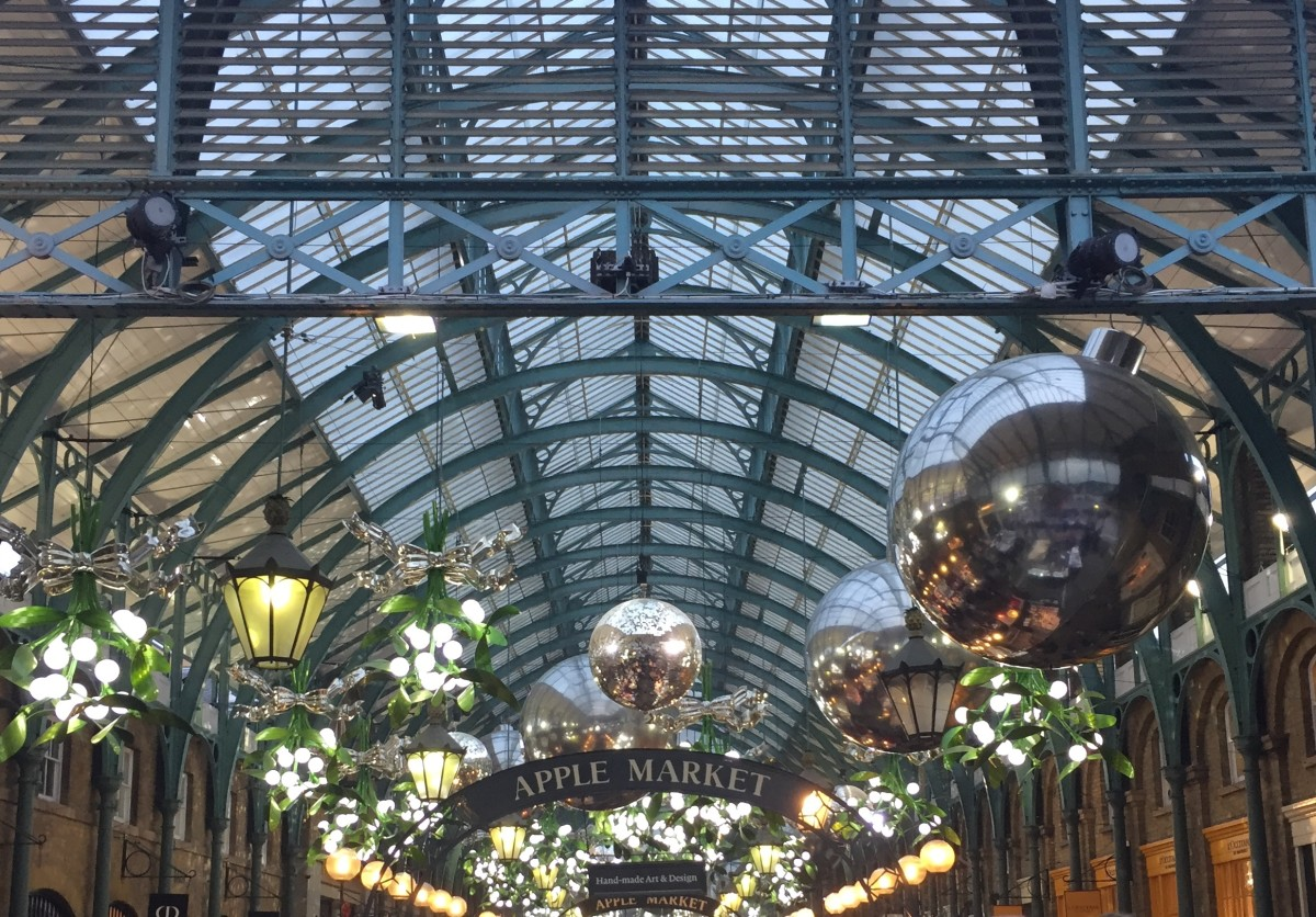 Covent Garden, London, at Christmas time