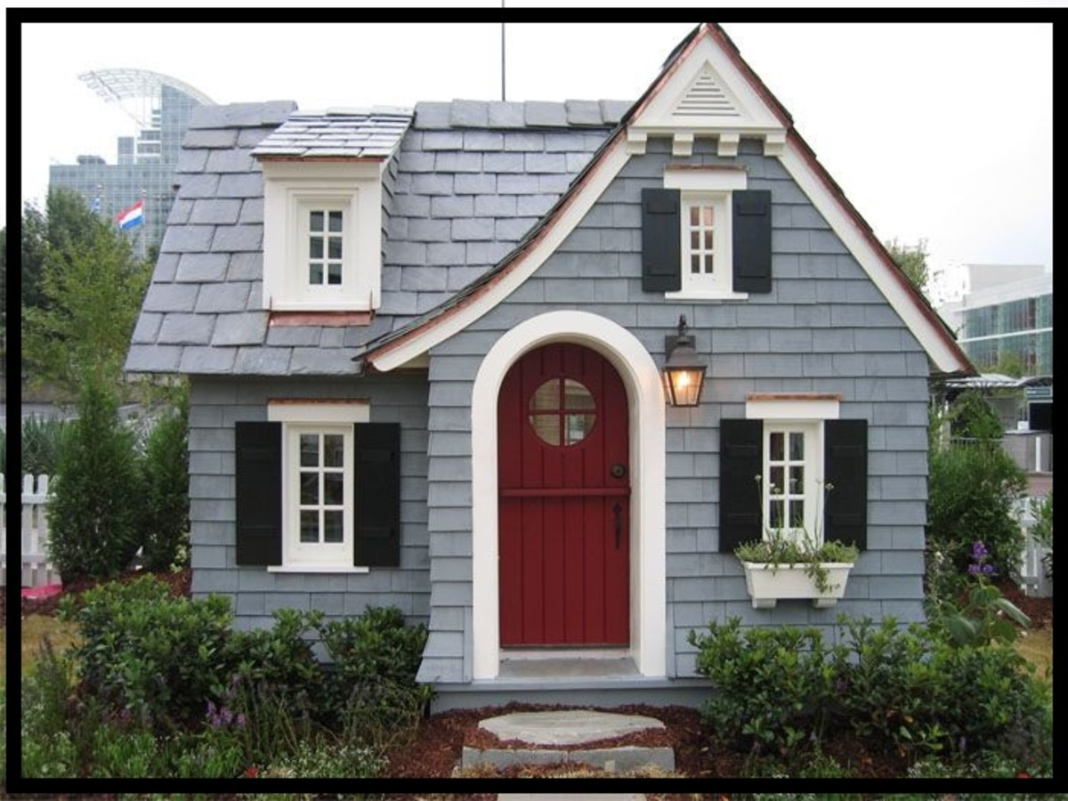 This is a small house. It is different to a tiny house. A tiny house tends to be on wheels. A small house can be small in size or inside a shipping container.