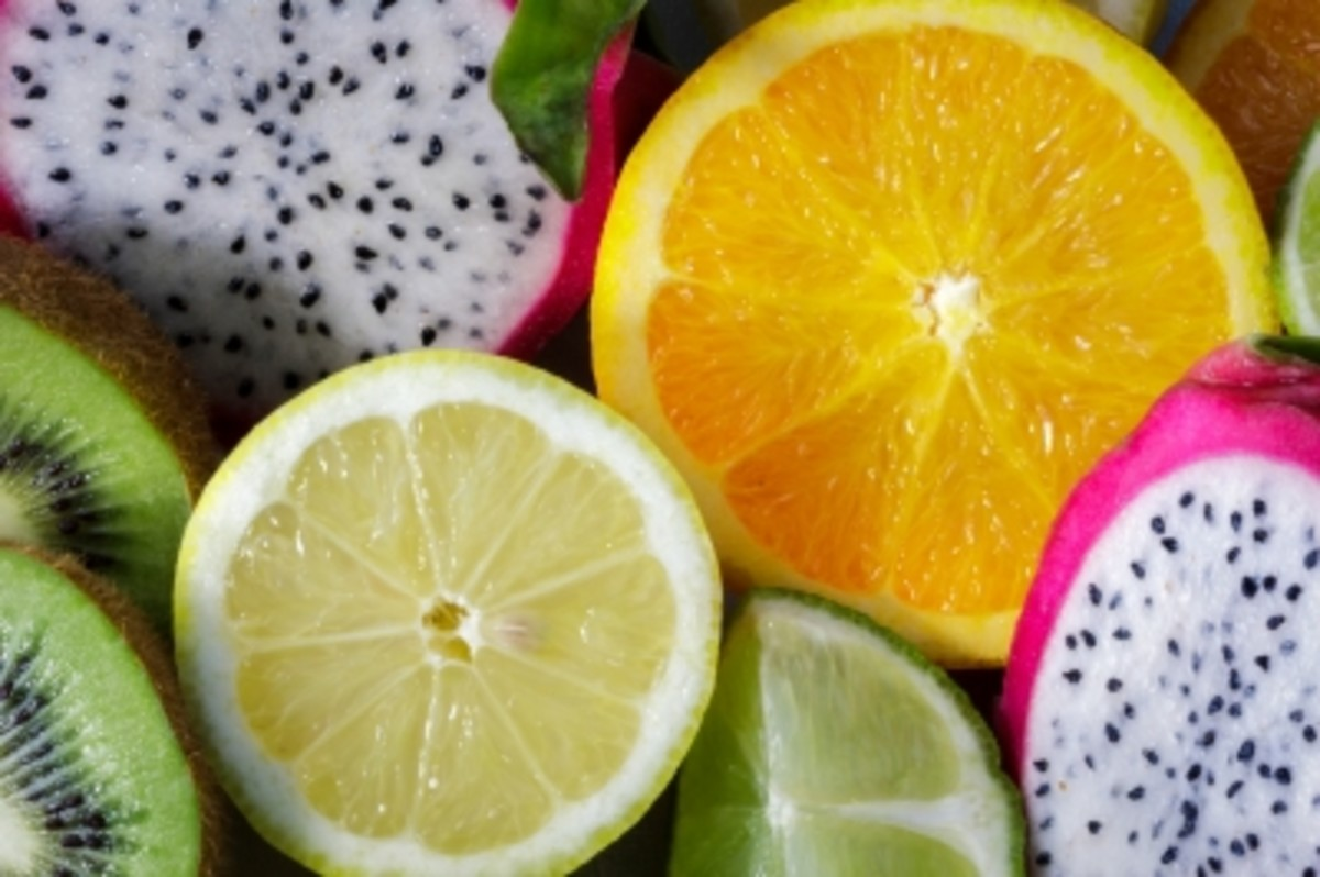 Lemons, limes, and dragon fruit offer added health benefits.