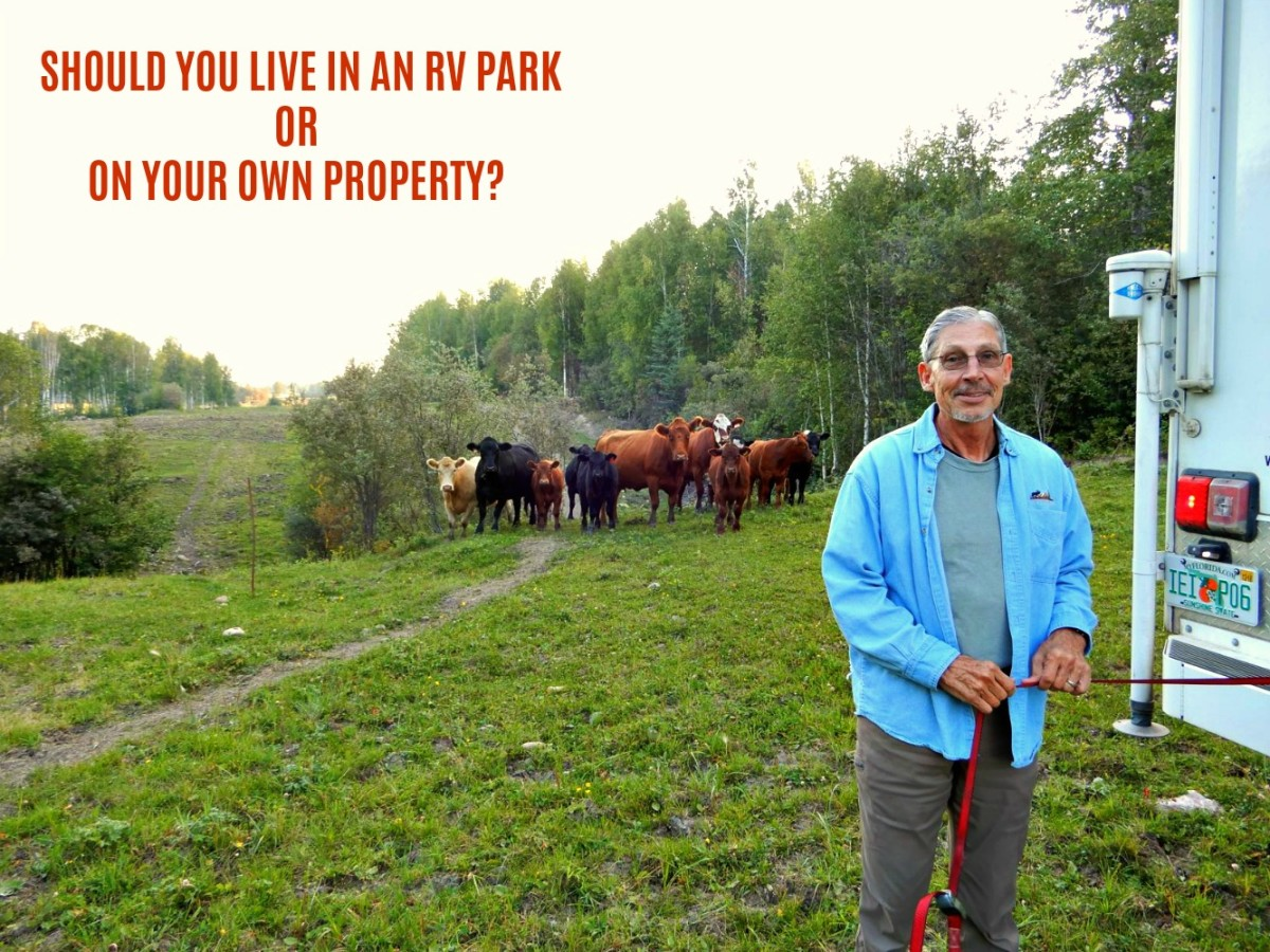 Is it better to RV year round on your own property or in an RV Park?