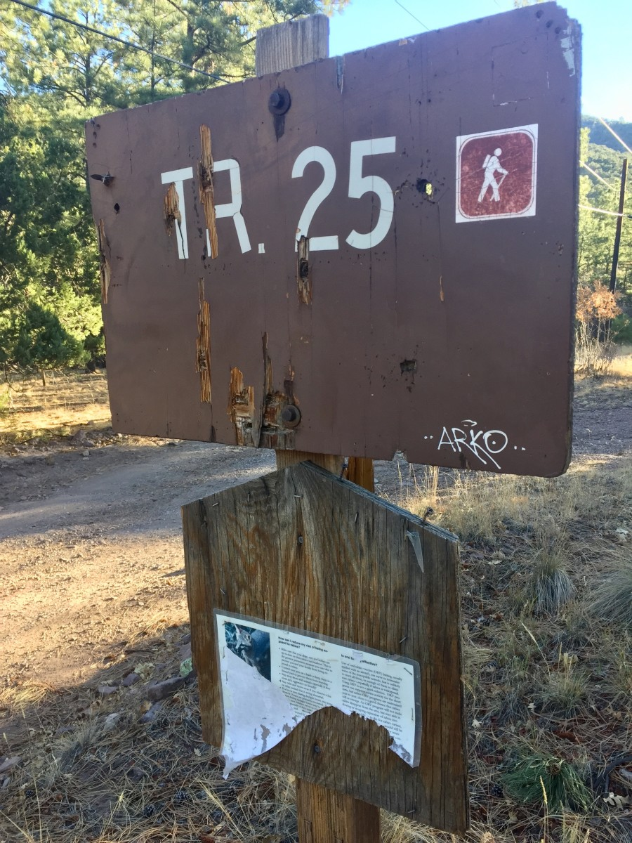 look for the trailhead sign