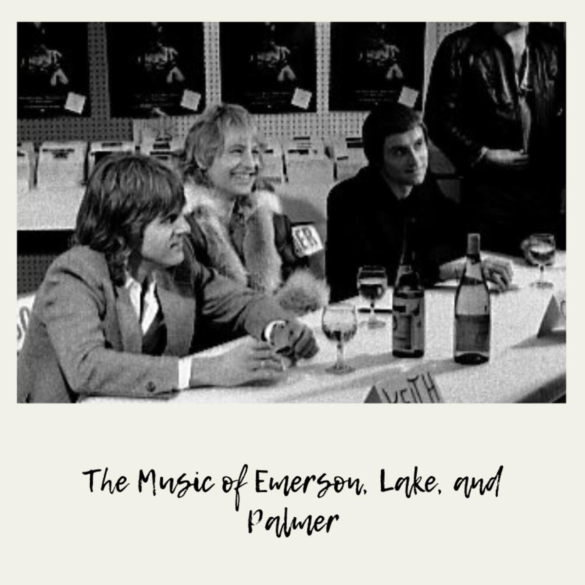 Emerson, Lake, and Palmer at Records on Wheels, Toronto, Feb. 2 or 3, 1978.