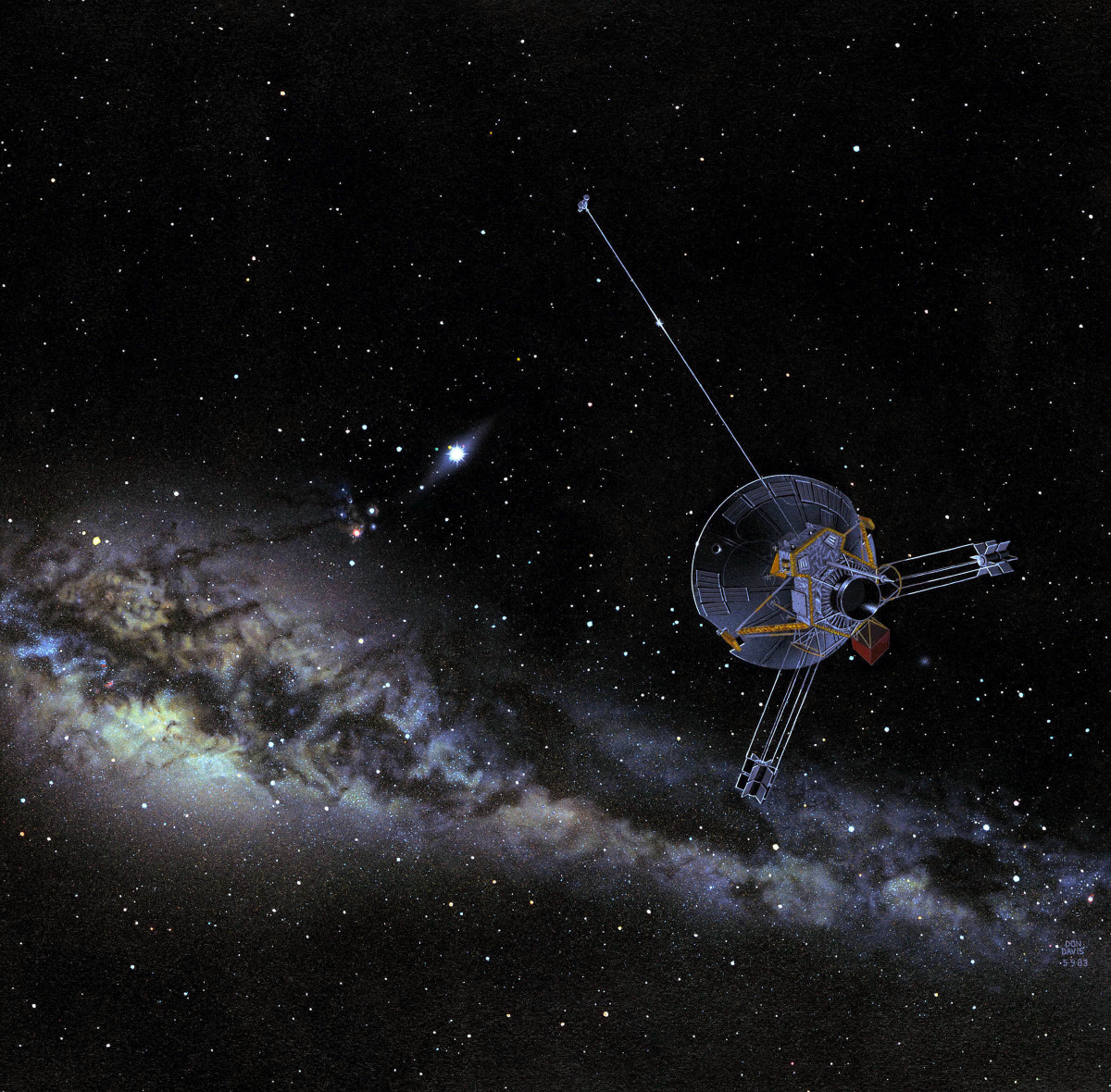 Pioneer 10 in deep space.