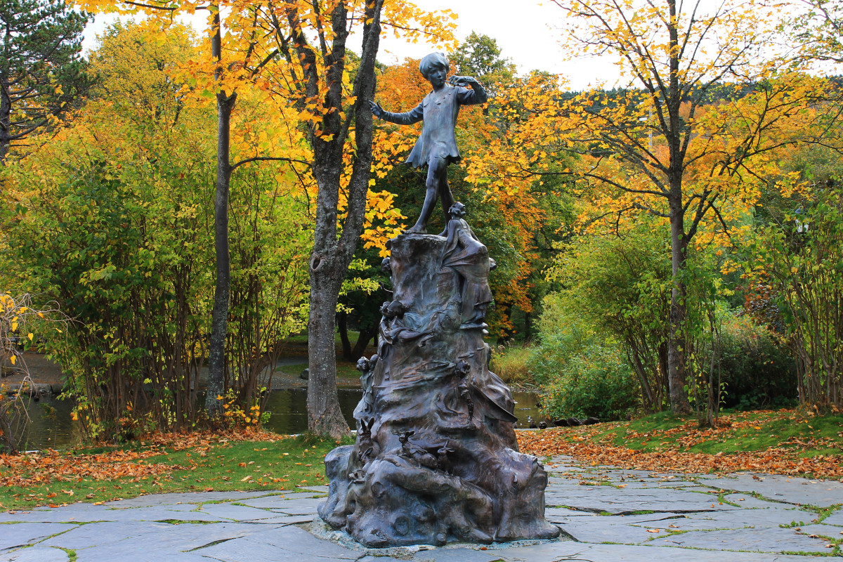 The Peter Pan Statue in Bowring Park